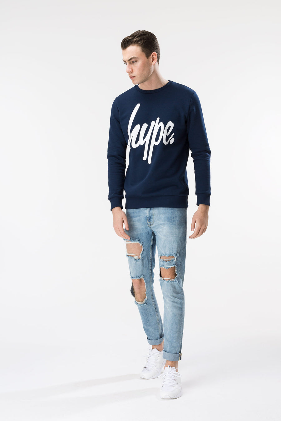 HYPE Blue Script Men's Crewneck