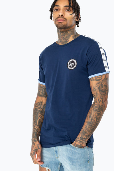 HYPE Men's T-shirt Sport Crest Blue