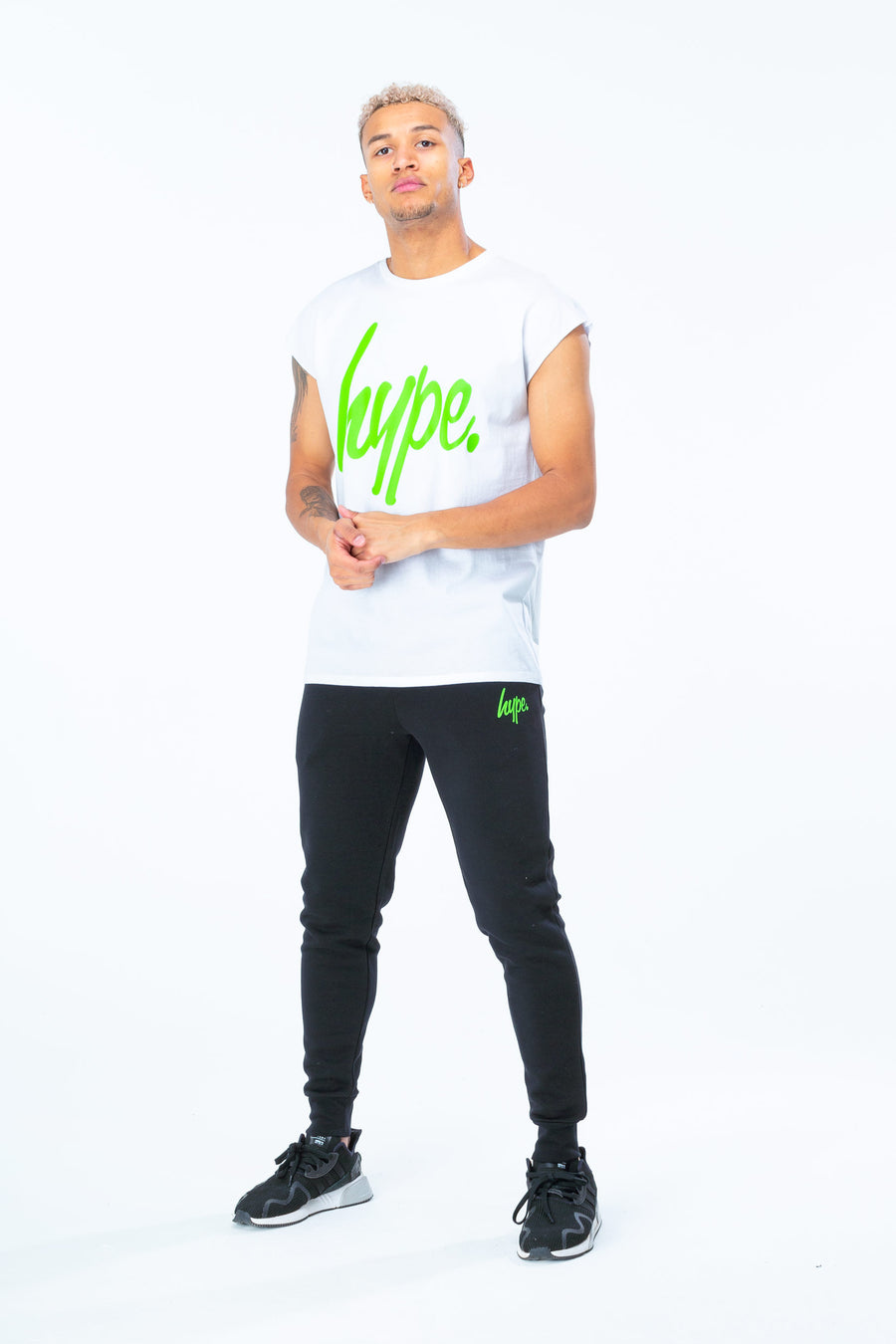 HYPE Men's Sleevless T-shirt Lime