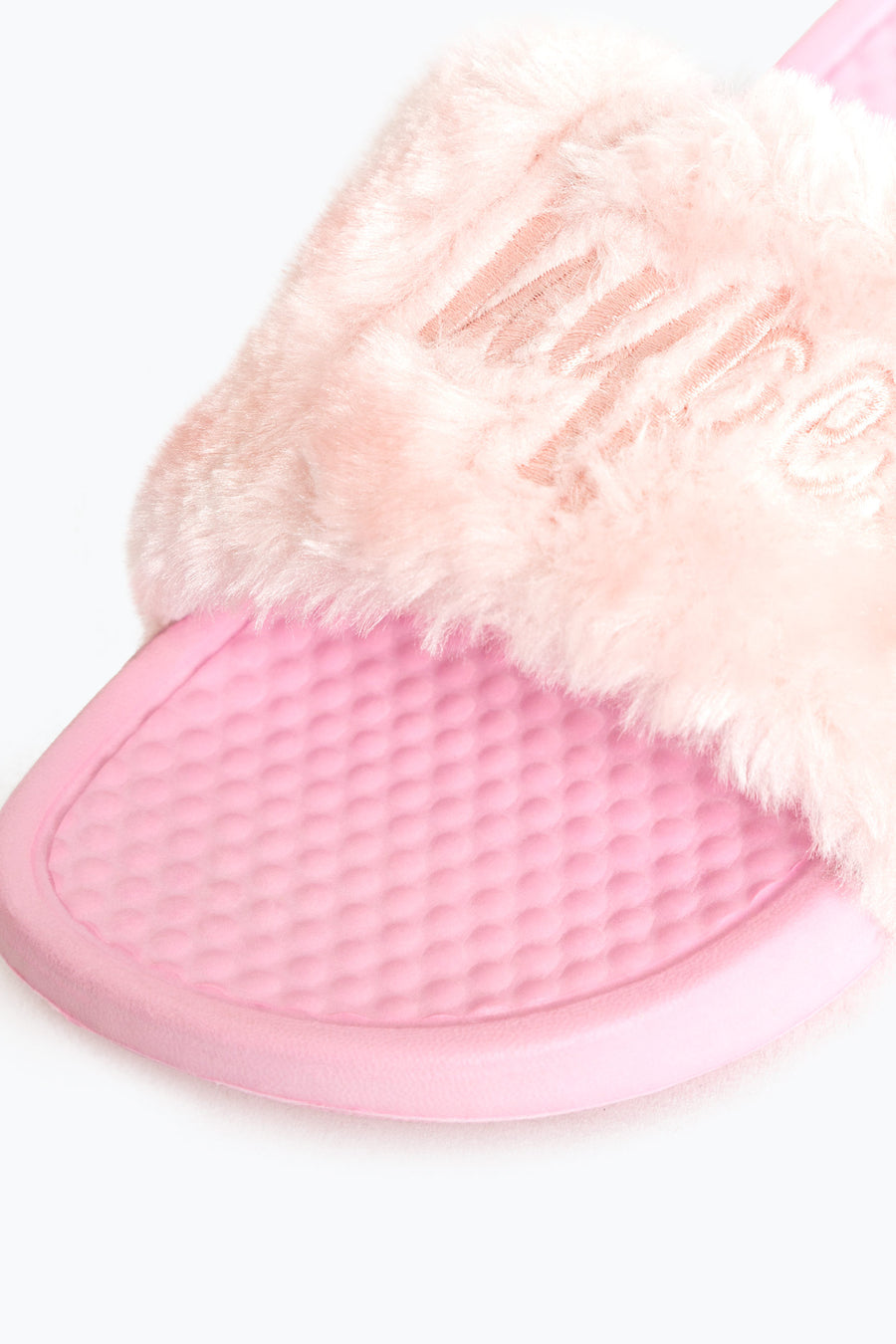 Hype Pink Sliders Fur