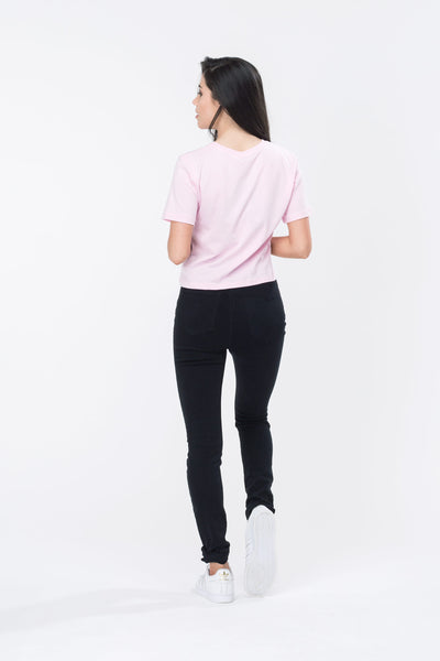 HYPE Women's Crop T-shirt Hype Script