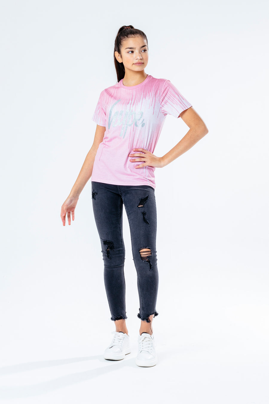 HYPE PINK DRIPS T-SHIRT KIDS