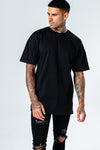 HYPE MEN´S BLACK OVERSIZED T-SHIRT
