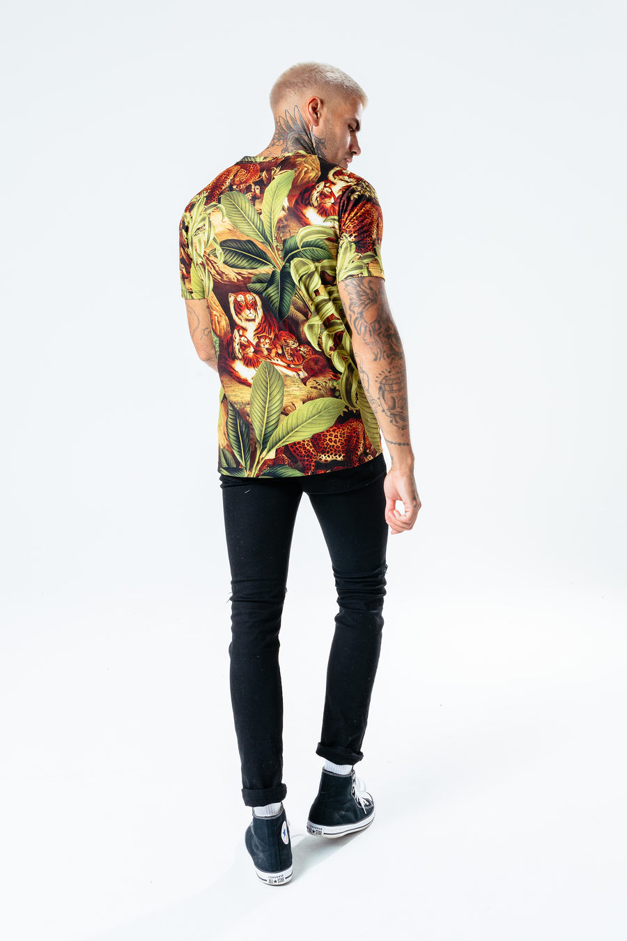 HYPE MEN'S JUNGLE KITTEN T-SHIRT