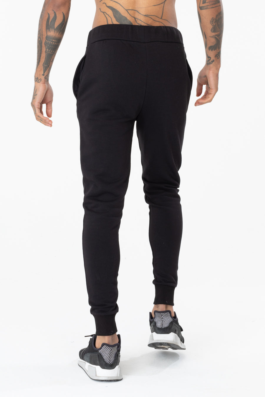 HYPE MEN'S DRAWSTRING BLACK JOGGERS