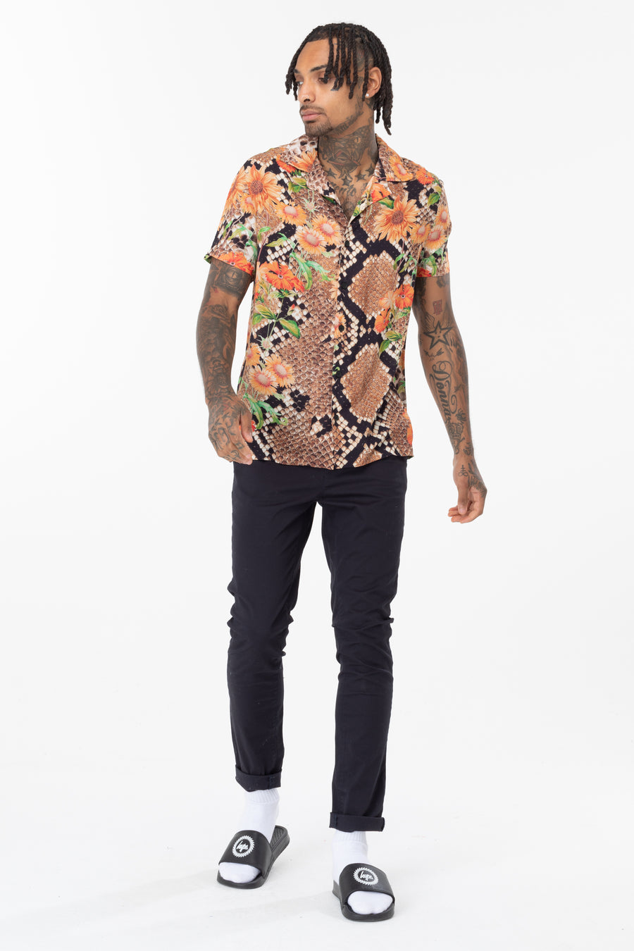 HYPE Men's Floral Hiss Shirt
