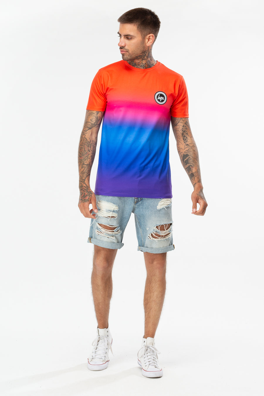 HYPE Men's T-shirt Rainbow Fade