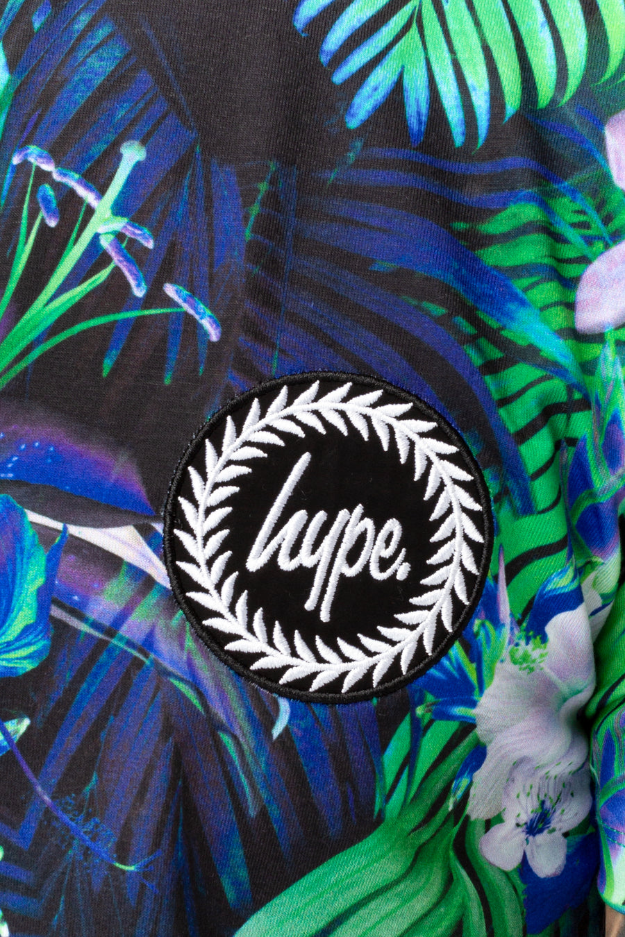 HYPE MENS T-SHIRT CYAN PALM