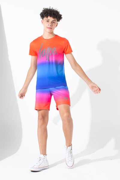 HYPE RED RAINBOW FADE KIDS T-SHIRT