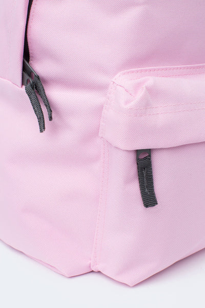 HYPE Baby Pink Badge Backpack-Backpack-Justhype.no