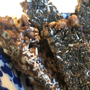 Quick and easy Coconut and Chia seed cereal bars