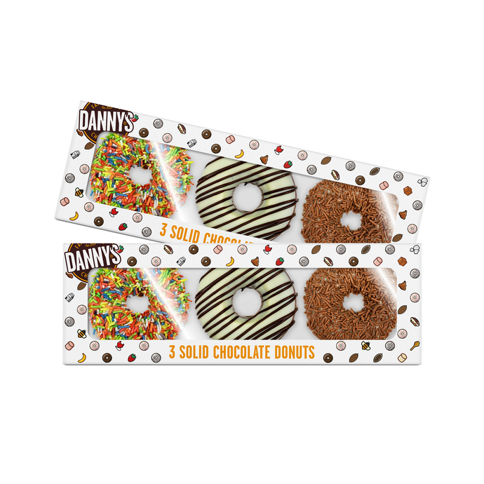Solid Milk Chocolate Donuts Bundle 2 x 150g - DANNY'S Chocolates