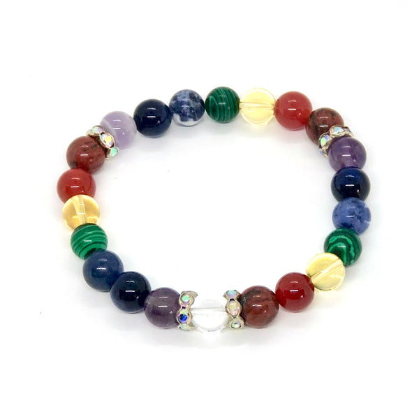 Chakra Healing Bracelet with Bling (Green)