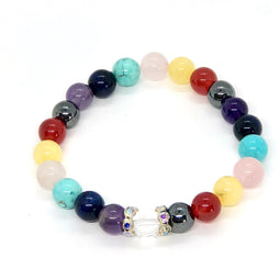 Chakra Healing Bracelet with Bling ( Pink )