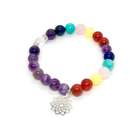Crown Chakra Bracelet with Charm