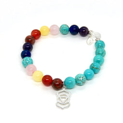 Throat Chakra Necklace with Charm