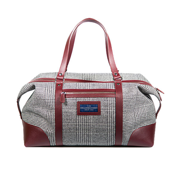 Gentleman's wool travel bag - bordeaux