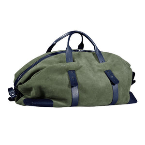 Gentlemen's suede travel bag - blu/verde