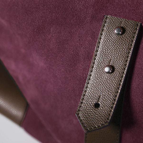 Gentlemen's suede travel bag - marrone/bordeaux