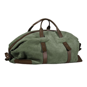 Gentlemen's suede travel bag - marrone/verde