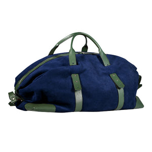 Gentlemen's suede travel bag - verde/blu
