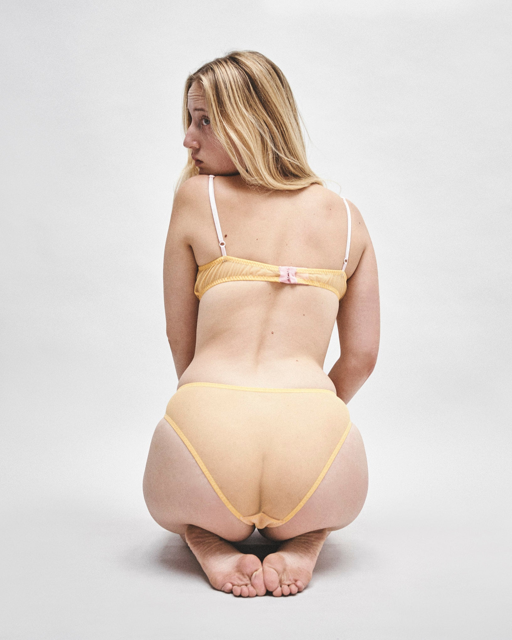 Vida yellow mesh knickers