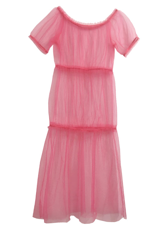 Fern pink tulle dress