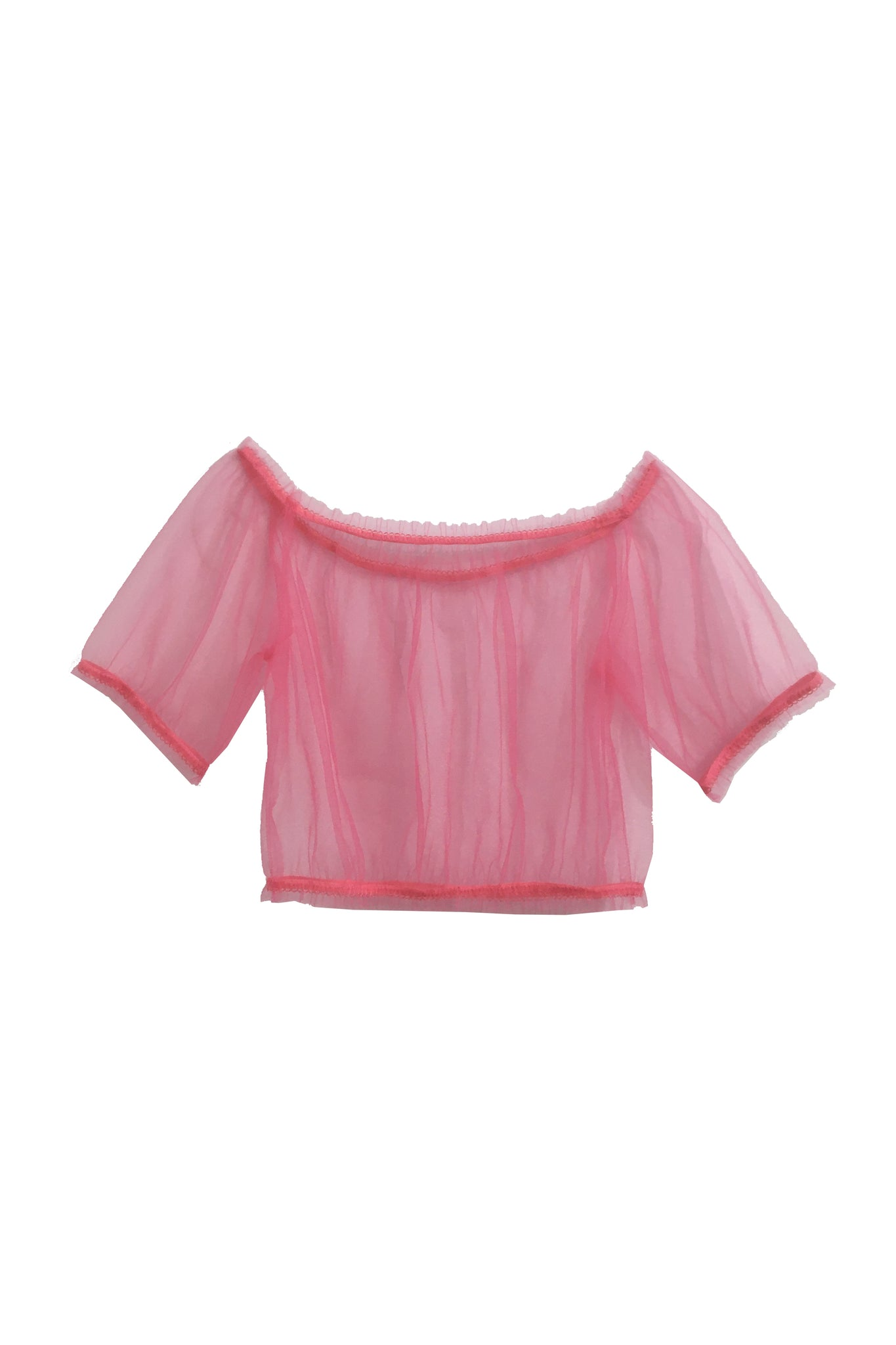 Fern frilly crop top