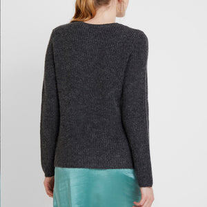 Vila ViGood O-neck Knit Top - Mørkegrå