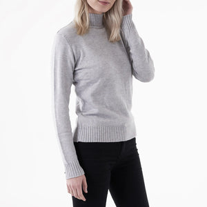 Vila Viril L/S Turtleneck Knit Top - Lysegrå
