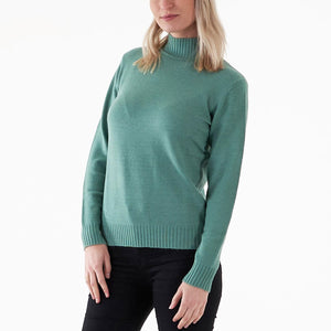 Vila Viril L/S Turtleneck Knit Top - Grøn