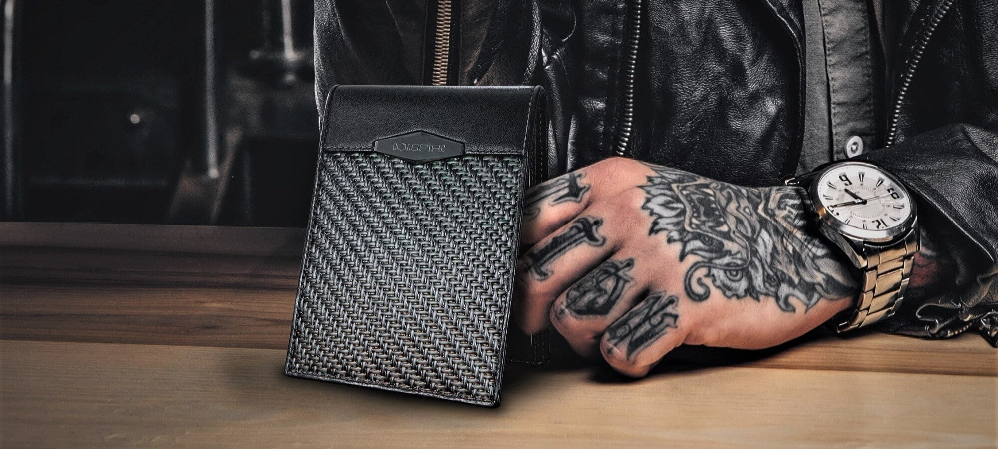 cold fire carbon fiber wallets for mens