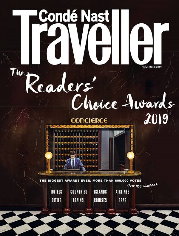 Coldfire brand as seen in Condé Nast Traveller  November 2019