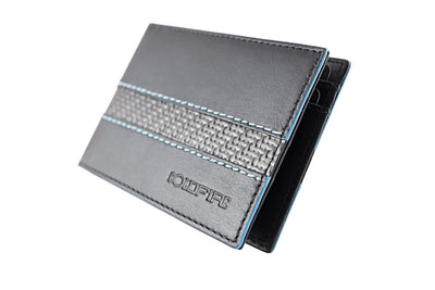 blade line-slim card holder-carbon fiber mini cardholder-blue-coldfire-front side