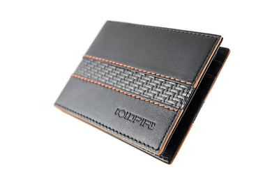 blade line-slim card holder-carbon fiber mini cardholder ID-orange-coldfire-front-side