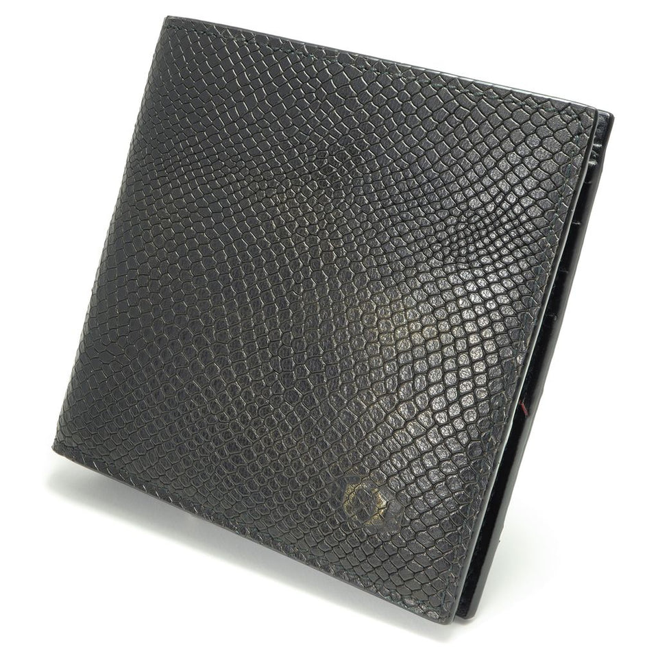 coldfire snake eye bifold leather wallet front side