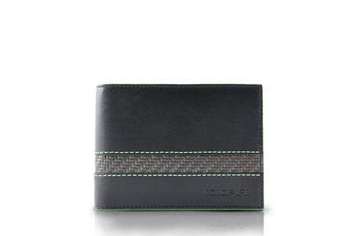 blade line-slim wallet-leather bifold-green-coldfire-front