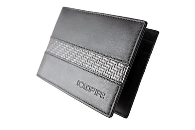blade line-slim card holder-carbon fiber mini cardholder ID-black-coldfire-side-front
