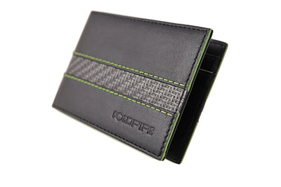 blade line-slim card holder-carbon fiber mini cardholder-green-coldfire-front-side