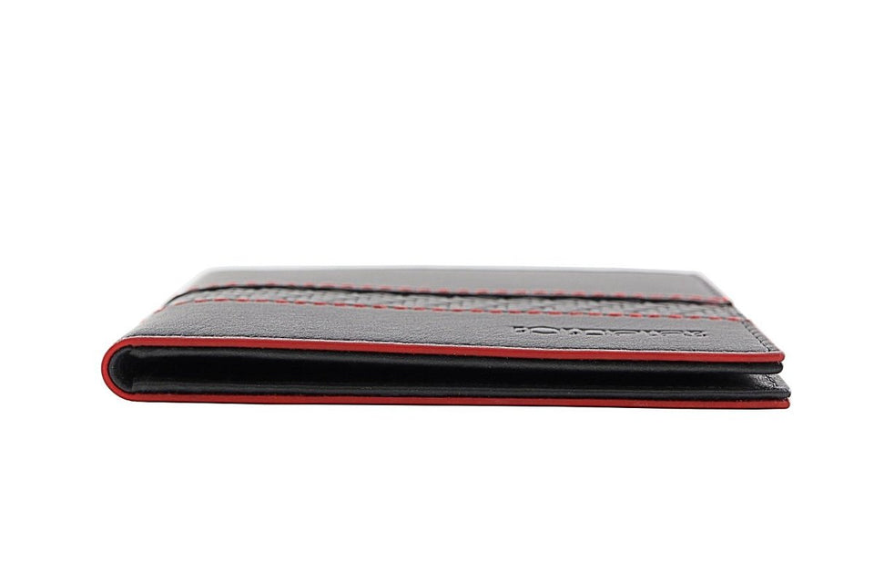 blade line-slim card holder-carbon fiber mini cardholder ID-red-coldfire-side