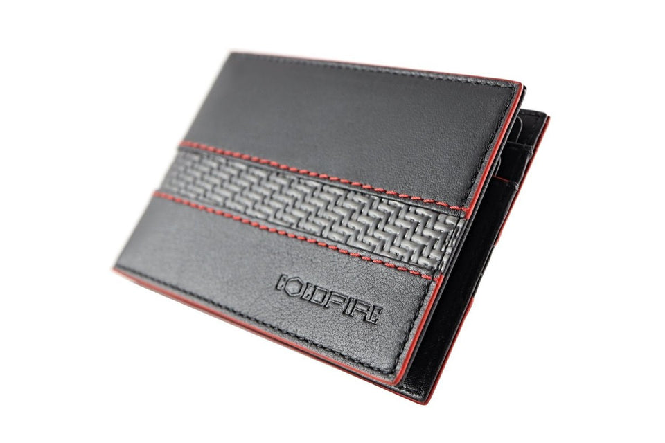 blade line-slim card holder-carbon fiber mini cardholder ID-red-coldfire-front-side