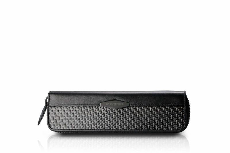 Carbon Fiber Pen Case With 2 Holders men's Accessories coldfire