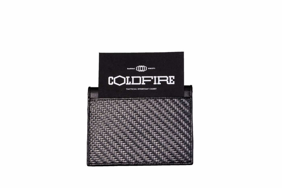 slim Carbon Fiber Cardholder leather Cardholders rfid coldfire
