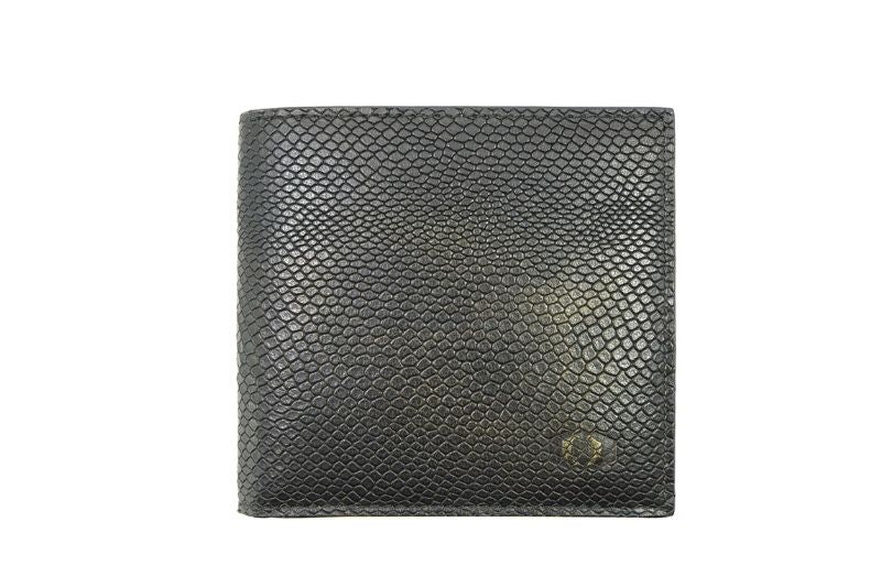 coldfire snake eye bifold leather wallet front