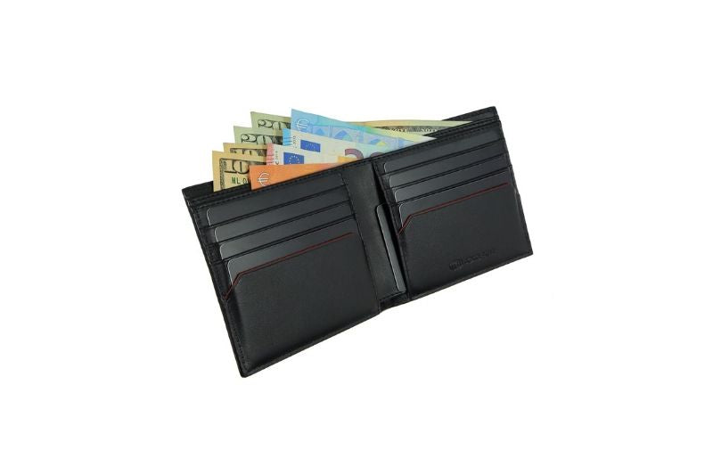 SNAKE EYE - Slim Bifold Wallet 8cc - Black