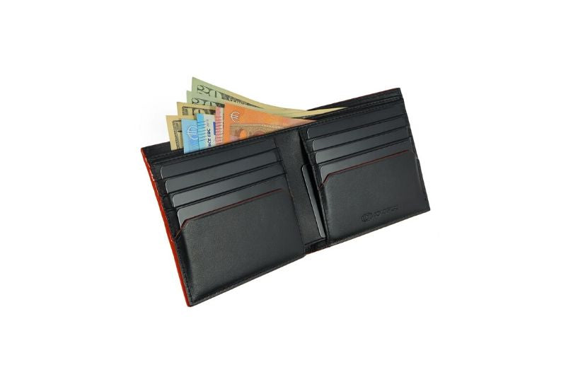 SNAKE EYE - Slim Bifold Wallet 8cc - Red