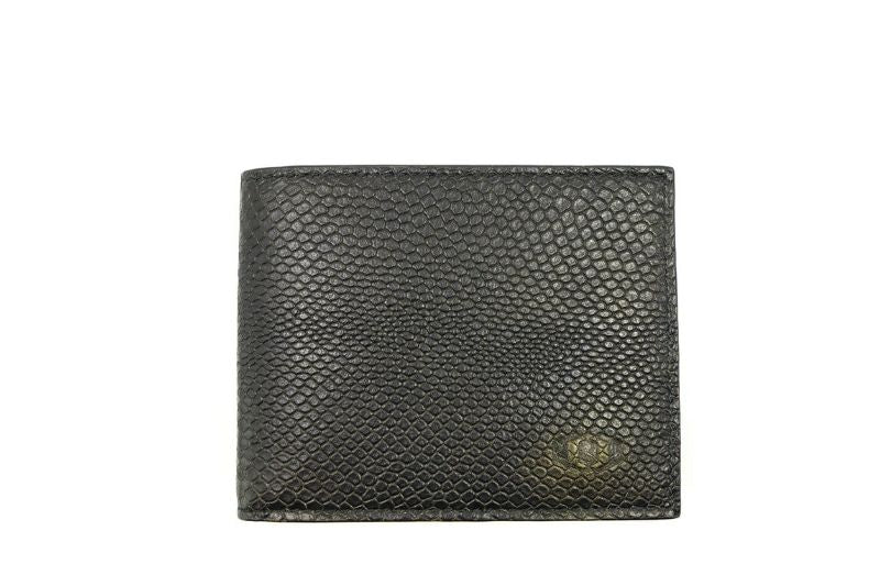 coldfire snake eye bifold wallet black front