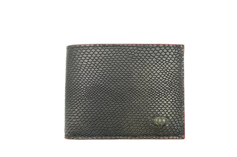 SNAKE EYE - Slim Bifold Wallet 6cc - Red
