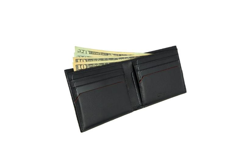 SNAKE EYE - Slim Bifold Wallet 6cc - Black