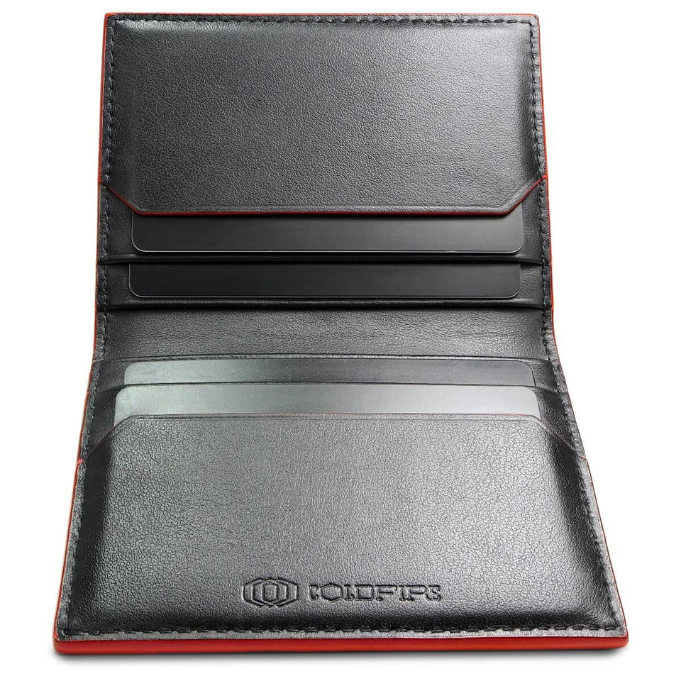 coldfire-snake-eye-slim-cardholder-9cc-red-open